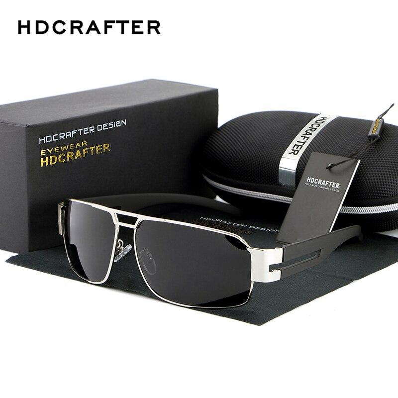 Мода поляризованный вождения Для мужчин солнцезащитные очки UV400 бренд Дизайн прямоугольник очки с Высокое качество Бесплатная доставка