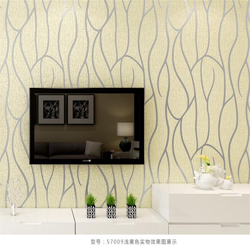 Beibehang Moderne minimaliste 3D courbe papier peint peau de daim velours ligne abstraite chambre salon fond mur rouleaux de papier