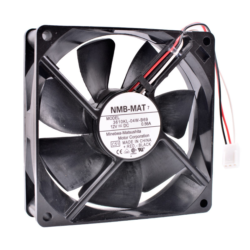 COOLING REVOLUTION 3610KL-04W-B69 9cm 9025 9225 12V 0.56A Double ball bearing air volume server chassis cooling fan