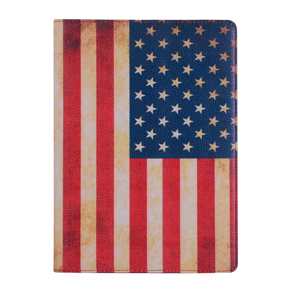 360 Rotating Flag Flip Pu Leather Cover For New Apple Ipad 9.7 6Th 2017 5Th A1823 A1893 Funda Tablet Smart Stand