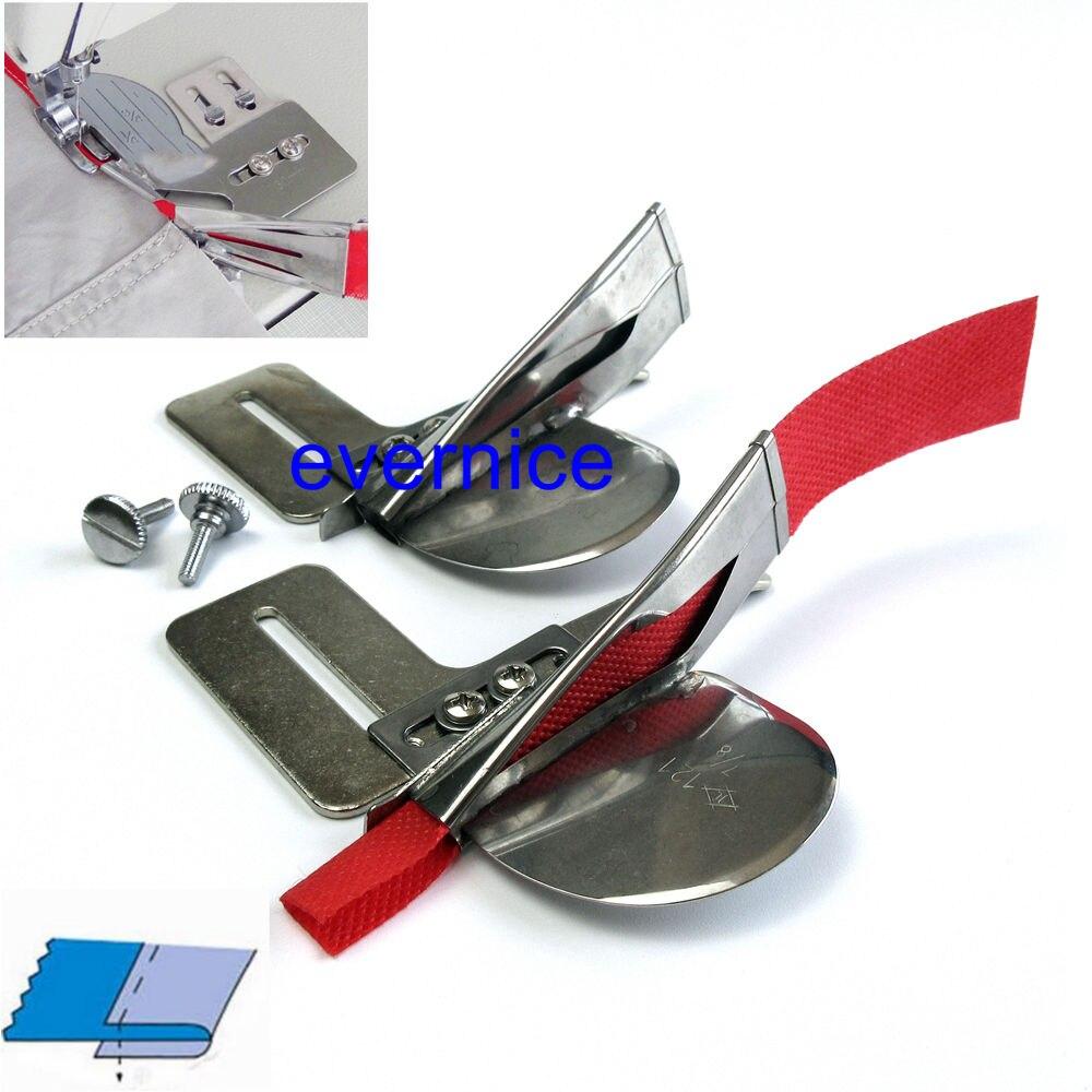 2 dobra simples crua ajustada do acessório da pasta da fita da borda única para juki Ddl-8500 8300 8700