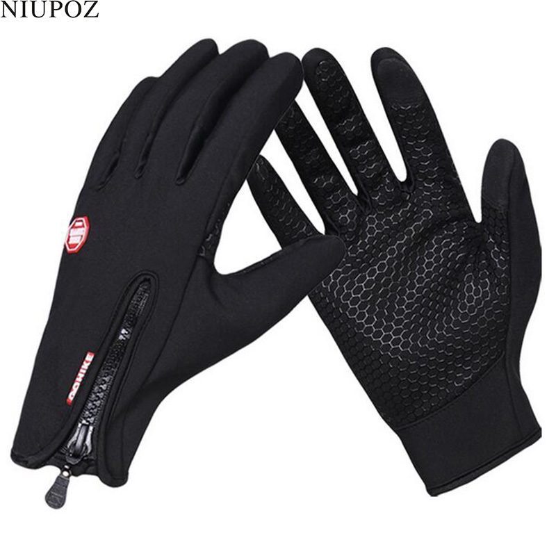 Winter Women Men Full Finger Warm Ski Gloves Bike Sport Touch Screen Gloves Unisex Windproof Snow Moto Bicycle Cycling Glove S95