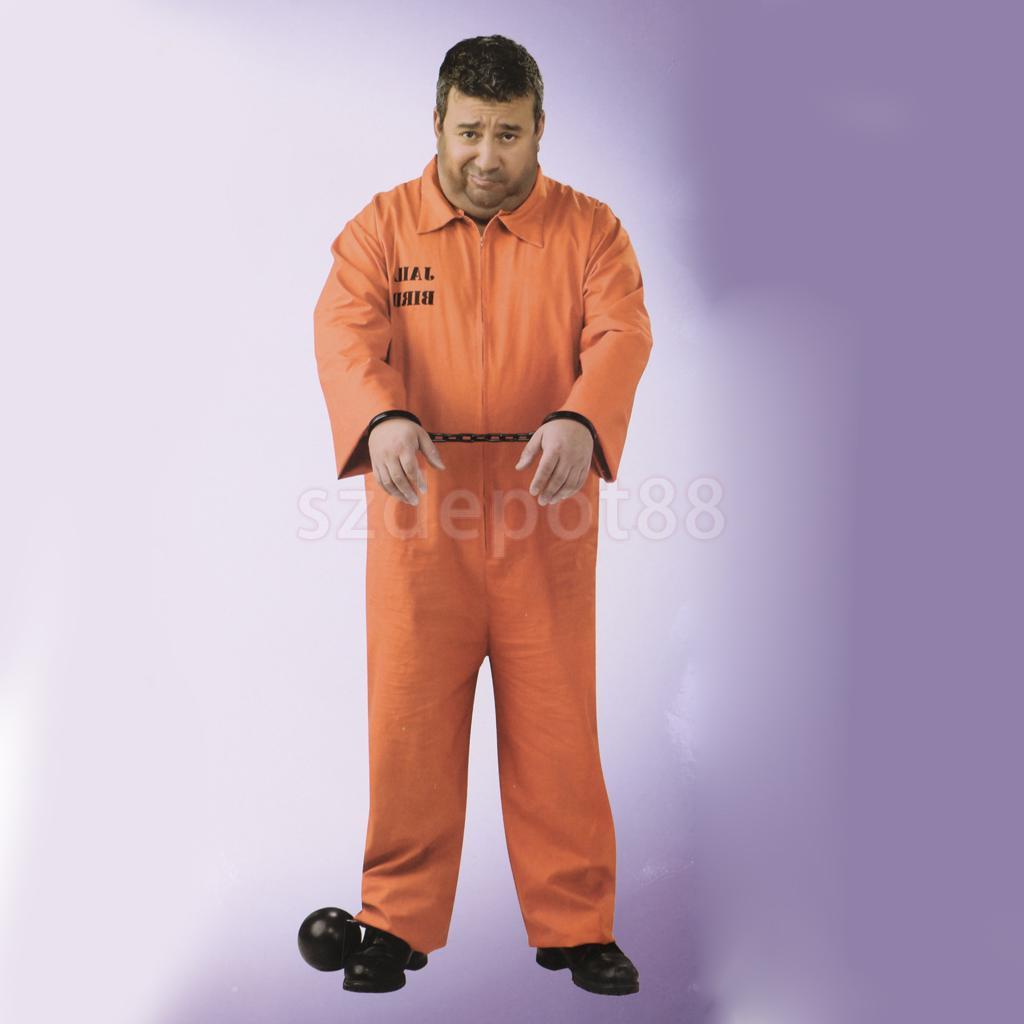 583f2db486f4 Detail Feedback Questions about Halloween Men Boys Orange Prisoner ...