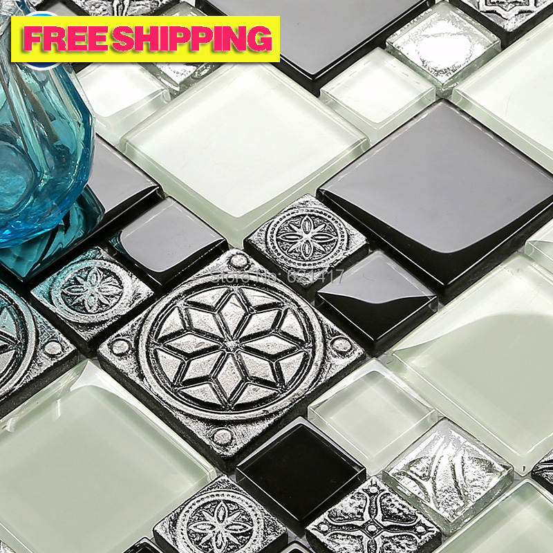 Preto e branco mosaico cinza europa 3d al vio resina for Mosaico adesivo 3d