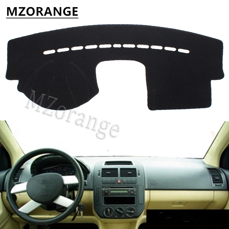 MZORANGE For VW POLO 2004-2010 Auto Car Dashboard Cover Avoid Light Pad Instrument Platform Dash Board Cover Mat High Quality car rear trunk security shield cargo cover for volkswagen vw polo 2002 2010 high qualit black beige auto accessories