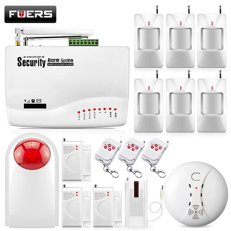 Fuers Sans Fil GSM 10A Double Antenne Alarme Residencial GSM Système D'alarme Ensembles Home Sans Fil Sirène D'alarme Systèmes de Sécurité Costume