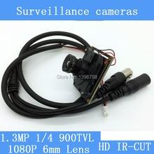 HD Color mini 900TVL 1080P 6mm Lens Analog High Definition Surveillance Camera Module Security indoor IR night vision