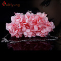 Free Shipping Women Satin Bags Fashion Design Flowers Handbags Casual Clutch Bags Ladies Party Evening Bag Wedding Small Clutch
