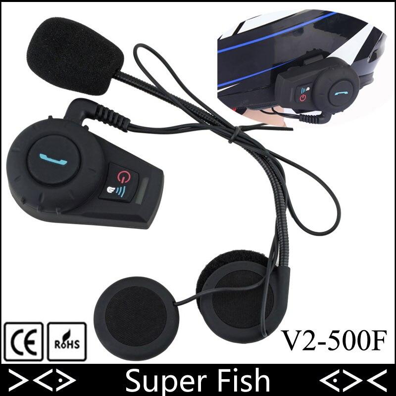 Affranchi casque Interphone casque Interphone sans fil moto haut-parleur casque Bluetooth 2 Rider 500 M système d'interphone