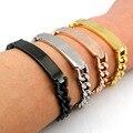 2016 Exquisite Stainless Steel Bracelet Man Fashion Jewelry Chain ID Men Bracelet Cuff,wholesale,GB035