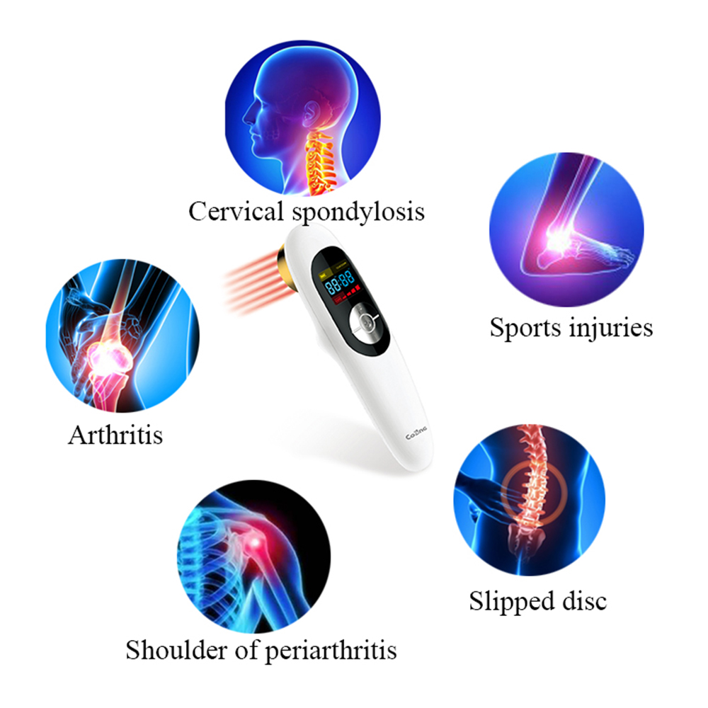 SOFT LASER PAIN RELIEF THERAPY, SPORT INJURIES 12 beams 650nm and 1 beam 808nm lllt low level laser physical therapy pain relief cozing cold laser therapy watch rhinitis ear deafness pharyngitis pain relief high blood pressure physical therapy cardiovascula