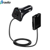 Proelio 48W 4 Port 2 4A USB Fast Car Charger Universal USB Fast Adapter With 1
