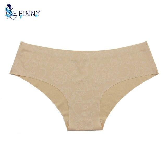 New High Quality Seamless Briefs Panties Flower Print Underwear Women Sexy Seamless Show Cheekster Panty bikini calcinha