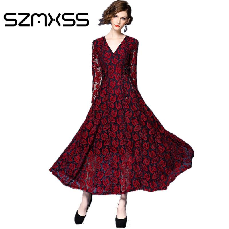 Фото модные коллекции длинное красное платье