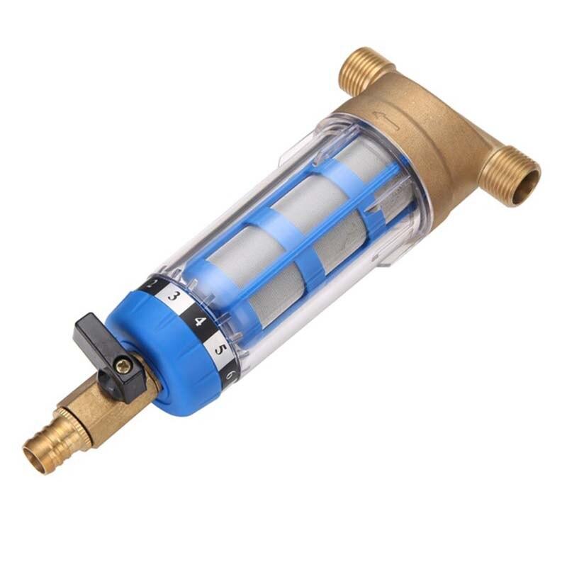 Nouveaux filtres à eau avant purificateur cuivre plomb pré-filtre lavage à contre-courant supprimer rouille Contaminant tuyau de sédiments acier inoxydable Central