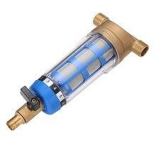 Nouveaux filtres à eau avant purificateur cuivre plomb pré filtre lavage à contre courant enlever rouille Contaminant sédiment tuyau en acier inoxydable Central