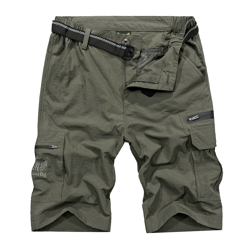 2018 Mens Multi Pockets Casual Cargo Shorts Combat Capris Man Knee Length Army Green Black Baggy Short Male Size