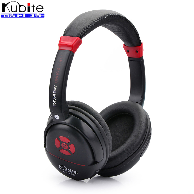 Kubite K898 Stereo Bluetooth Headset Wireless Headphones with Mic for Mobile Phone Support FM / TF Card wireless retro telephone handset and wire radiation proof handset receivers headphones for a mobile phone with comfortable call