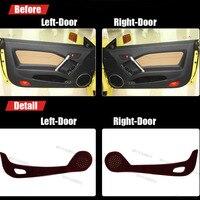 4pcs Fabric Door Protection Mats Anti Kick Decorative Pads For Hyundai Coupe