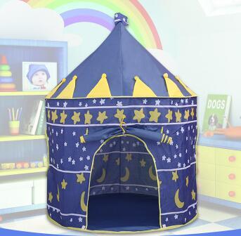 2 couleurs enfants jouet tentes enfants pliant maison de jeu Portable en plein air intérieur jouet tente princesse Prince château Cubby Playhut cadeaux