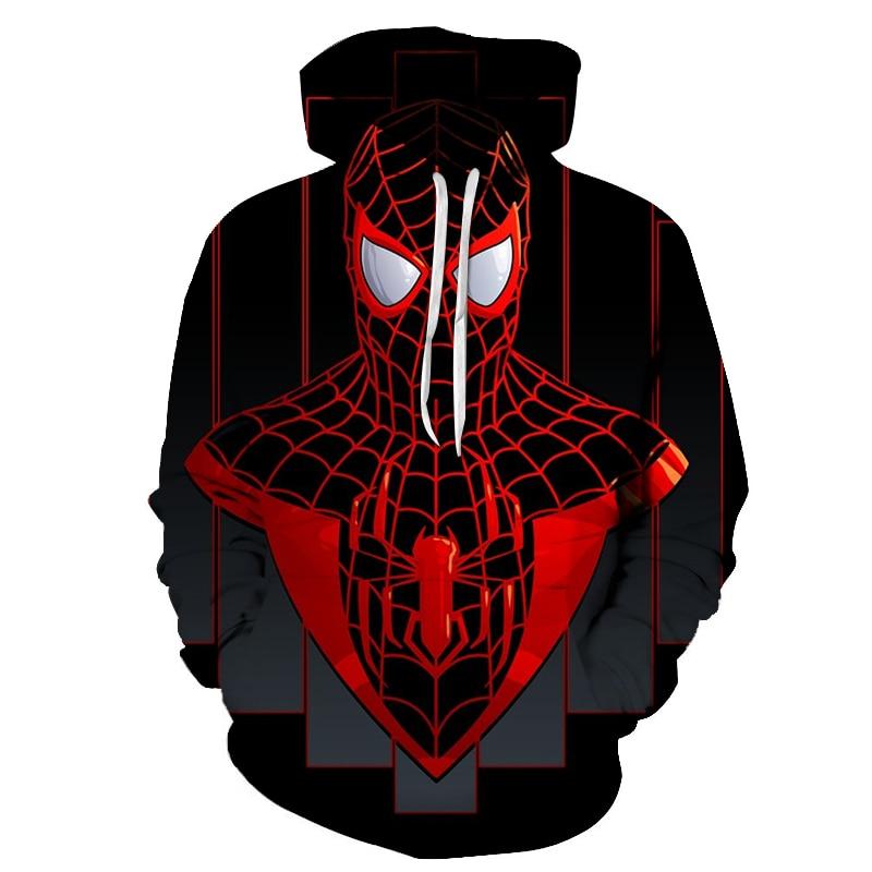 2019 New Marvel Comicis 3D Printed Spiderman Hoodie Fashion Streetwear Sweatshirts Hip Hop Anime Hoodies Men Casual Funny Jacket