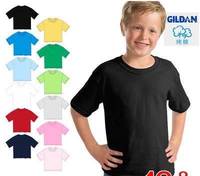 e1d7414e Children tshirt 100% cotton boys girls T shirt multicolour blank o neck  short sleeve T shirt kids t shirts parent child-in T-Shirts from Mother &  Kids on ...