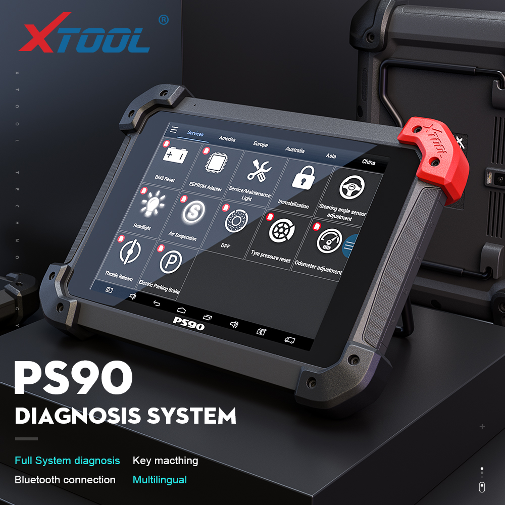 XTOOL PS90 Automotive OBD2 Car Diagnostic tool With Key Programmer/Odometer Correctio/EPS Support Multi Car models With Wifi/BT title=