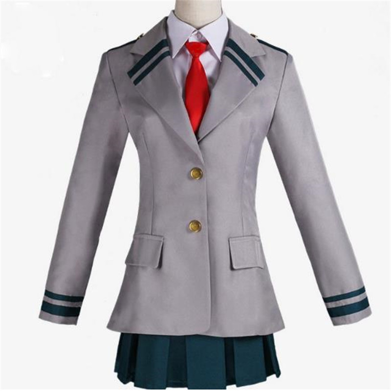 BOOCRE Anime My Hero Academia Cosplay Costumes YAOYOROZU MOMO Todoroki Shoto School Uniform Roleplaying Costumes