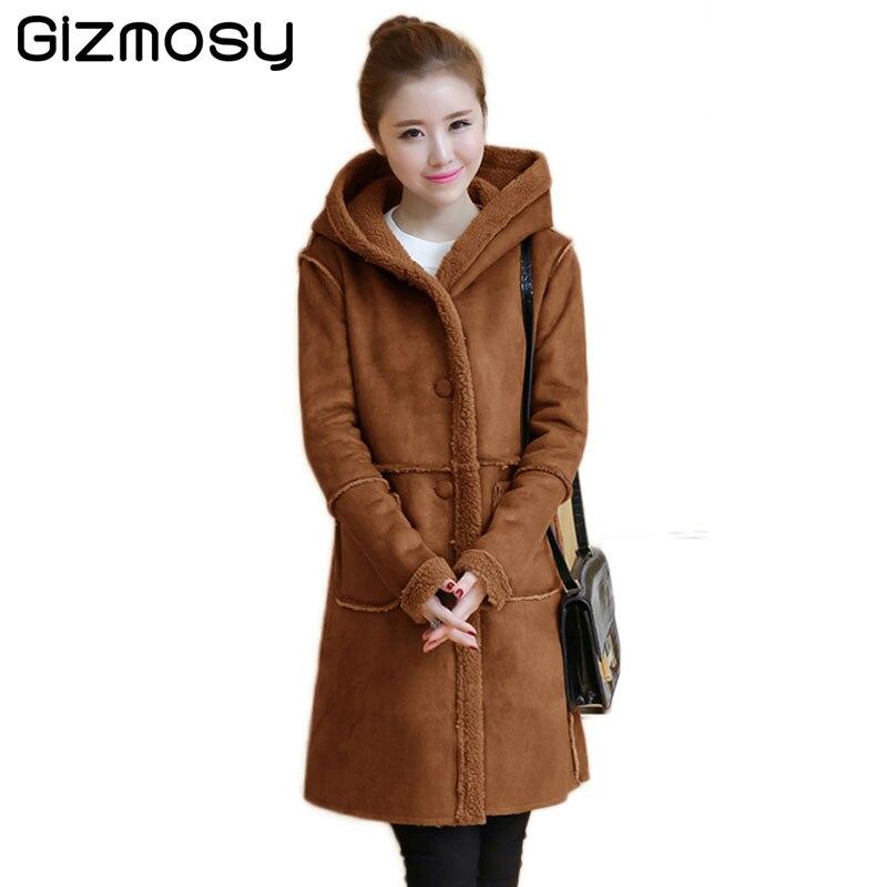 Winter Jacket Women Warm Parka Suede Hairy Hooded Jacket Female Winter Thicken Long Coat Cotton-Padded Casual Outwear SY1743 цены онлайн