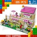 695 unids bela 10164 amigas casa de oliver oliver/peter/anna modelo building blocks set ladrillo compatible con lego
