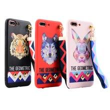 3D Animal Tiger Rabbit Wolf Phone Case iPhone 6 6s Plus 7 7 Plus