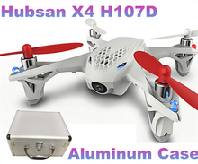 100% Original Hubsan X4 H107D With Aluminum Case FPV 4CH 6 Axis Camera RC Quadcopter w/ FPV LCD Transmitter