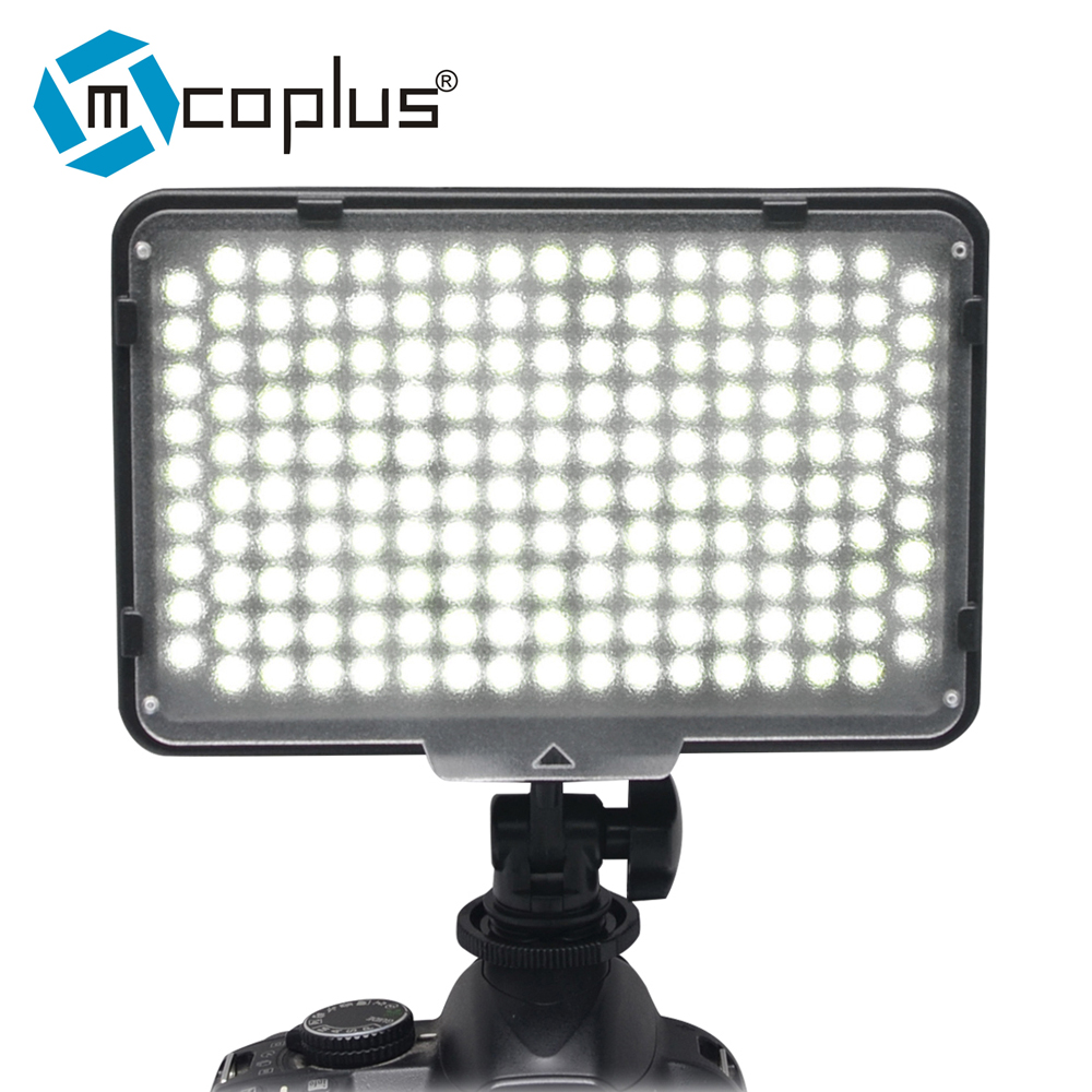 Mcoplus LED-168 LED Video lamp Photography Light for Canon Nikon Pentax Panasonic Olympus & DV Camcorder Digital SLR Camera leather camera hand grip for slr camera digital video camcorder sj4000