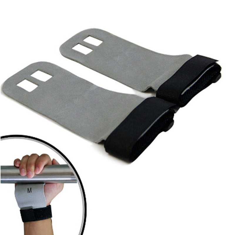1 Pair S M L Hand Grip Synthetic Leather Crossfit Gymnastics Guard Palm Protectors Glove Pull Up Bar Weight Lifting Glove