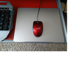 Aluminum alloy Pad with Non-Slip Rubber Bottom Mouse Pad anti slip Mousepad