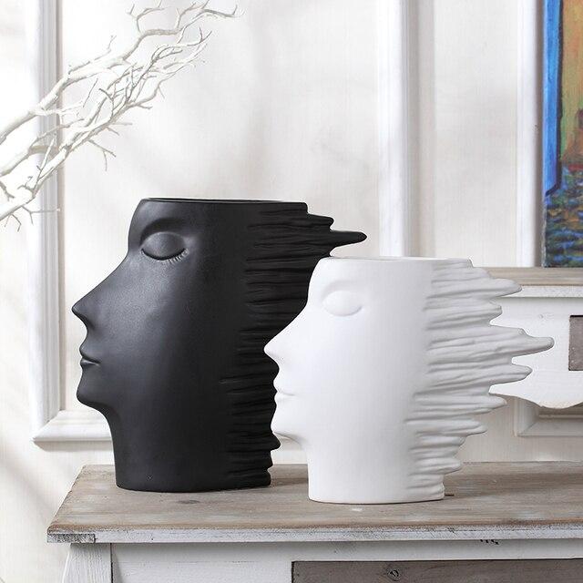 Flower Vase For Flowers Decoration Accessories Ceramic Vases White