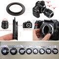 Aluminio Cámara Lente Macro Anillo Adaptador Inversa para Nikon AI para 49mm 52mm 55mm 58mm 62mm 67mm 72mm 77mm Rosca montaje