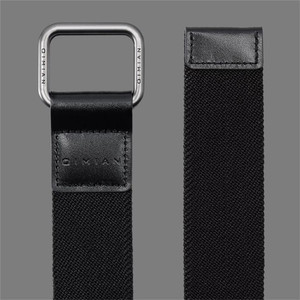 Image 3 - Youpin Qimian Fashion Elastic Fabric Sports Tactical Belt Double Ring Alloy Buckle Leather Rinforcement Comfortable Mens Belt