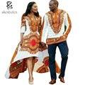 2016 de moda de verano vestidos para las mujeres africanas Africano dashiki batik imprime hombres tops señora Parejas vestido de la muchacha del muchacho
