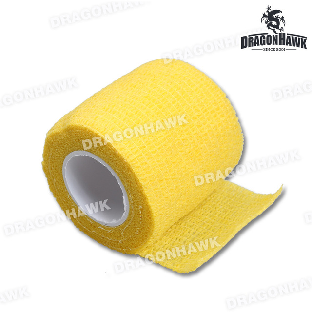 1pcs Bandage Tattoo Grip Cover 5cm For Tattoo Tubes Tattoo Grip Tattoo Supply Yellow Color