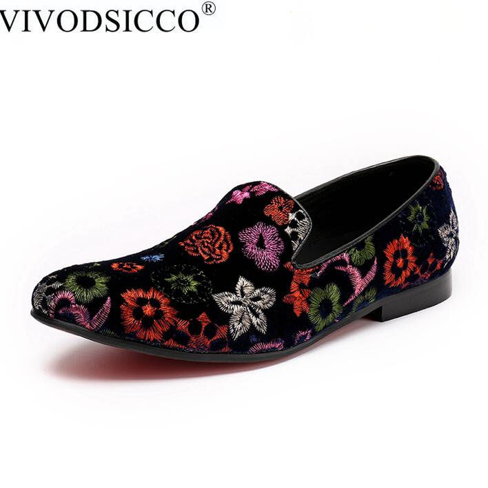 9c6484c97fbe3 VIVODSICCO Men Velvet Dress shoes Men Loafers Handmade Black Velvet  Slippers Shoes Luxury Men's Flats Embroidery Party Driving-in Men's Casual  Shoes from ...