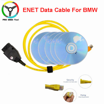 Quality E-SYS ENET cable for BMW F-series ICOM OBD2 Coding Diagnostic Cable Ethernet to ESYS Data OBDII Coding Hidden Data Tool 2