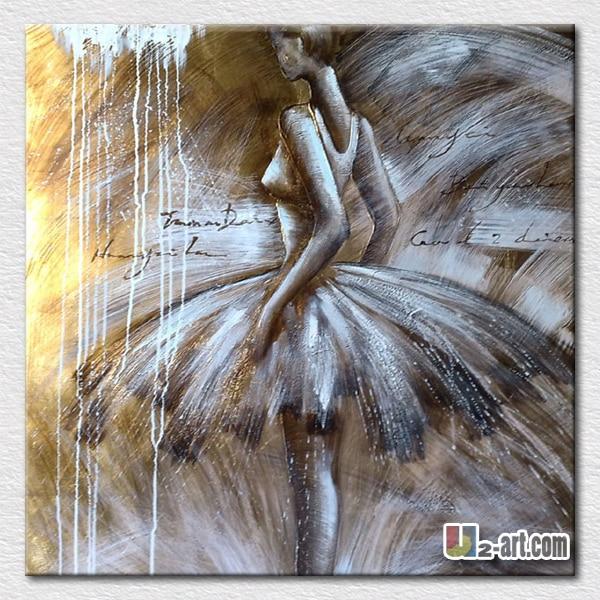 Elegante ballerina lgem lde auf leinwand gemalt bilder for Schlafzimmer bilder leinwand