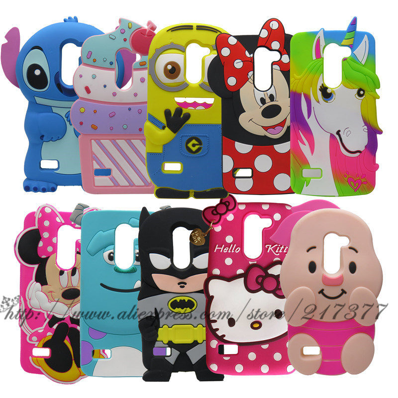 Teléfono case para lg k10 lte m2 f670 q10 3d lindo de la historieta minnie punta