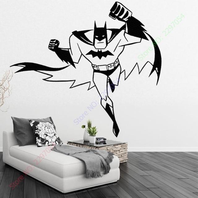 BATMAN SUPERHERO Vinyl Wall Art Sticker Poster Wallpaper Childrens - Superhero vinyl wall decals