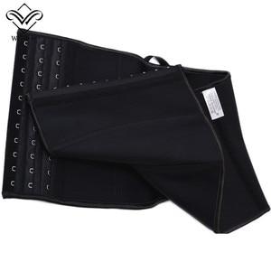 Image 4 - Women Slim Waist Trainer Latex Underbust Corset Slimming Corset 9 Steel Boned Short Back Support Waist Belt Cincher