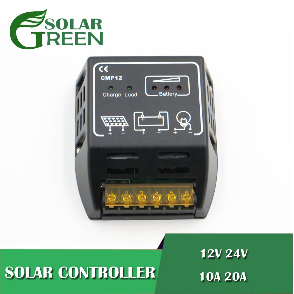 PWM CMP12 BSV20A 10/20A 12V 24V Solar panels Battery Charge Controller 100W 200W 500W 600W PWM battery charger RegulatorsPWM CMP12 BSV20A 10/20A 12V 24V Solar panels Battery Charge Controller 100W 200W 500W 600W PWM battery charger Regulators