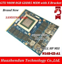 New Original GTX 980M Graphics Card GTX980M SLI X Bracket N16E GX A1 8GB GDDR5 MXM For Dell Alienware MSI HP Clevo notebook GPU