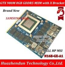 Новый оригинальный м GTX 980 M видеокарта GTX980M с X-Bracket N16E-GX-A1 8 ГБ GDDR5 MXM для Dell Alienware MSI hp через DHL EMS