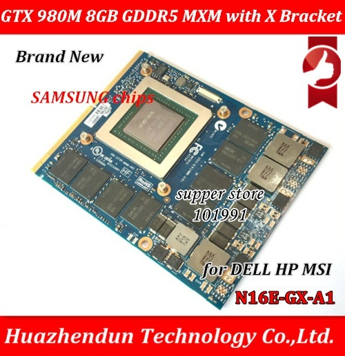 Nuovo Originale GTX 980 m Scheda grafica GTX980M con X-Staffa N16E-GX-A1 8 gb GDDR5 MXM Per Dell Alienware MSI HP via trasporto libero del DHL/EMS